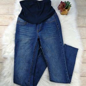 S.O.N.G Raw Hem Full Panel Maternity Jeans Size M